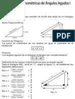 Razones Trigonométricas de Ángulos