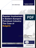 Russian Involvement in Eastern Europe's Petroleum Industry