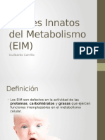 errores innatos del metabolismo
