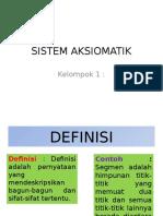Sistem Aksiomatik