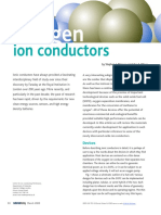 Oxygen Ion Conductors