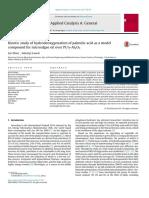 Palmitic acid hydrodeoxygenation