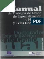 Manual de Trabajo de Grado y Tesis Doctorales Upel 2006 2