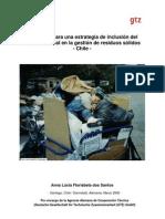 Propuesta integracion sector informal en la gestión de residuos Chile - GTZ 2008
