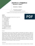 Substantivo e Adjetivo - Brasil Escola