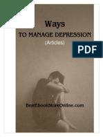 Ways to manage Depression