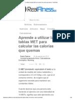 Aprende a utilizar las tablas MET para calcular las calorías que quemas - RealFitness.pdf
