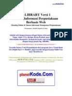 eLibrary v1- ERD Dan Rancangan Web Sistem Informasi Perpustakaan untuk Contoh Tugas Akhir(TA) dan Skripsi bidang Informatika