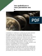 Fenômenos Quânticos e Universos Paralelos Em Colisão