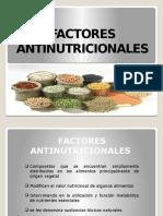 Factores Antinutrientes o Antinutricionales