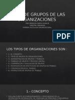 Tipos de Grupos de Las Organizaciones Exposicion