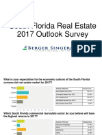 South Florida Realestate 2017 Out Look Survey