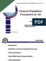 USNORTHCOM General Population Evacuation By Air