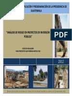 Análisis de Riesgo en Proyectos de Inversión Pública 2012