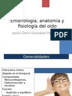 Embriologia, Anatomia y Fisiologia Del Oido