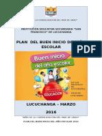Plan Buen Inicio Año Escolar 2016