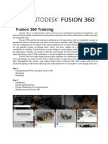 Training Outline Fusion 360
