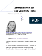 1 Most Common Blind Spot in Business Continuity Plans