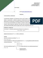Apuntes de Clase Cálculo II (Tecnicas de Integración)