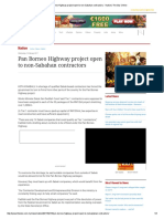 Pan Borneo Highway Project Open to Non-Sabahan Contractors - Nation _ the Star Online