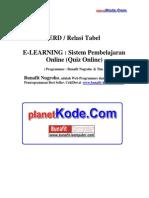 eLearning v2 - ERD Dan Desain Sistem Informasi Pembelajaran Online Berbasis Web untuk Contoh Tugas Akhir(TA) dan Skripsi bidang Informatika