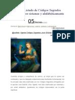 NUEVO Listado de Códigos Sagrados de Agesta Por Sistemas y Alafabéticamente