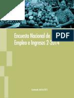 Empleo e Ingresos 2014 Estadisticas