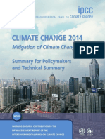 Climate Change 2014 - Mitigation of Climate Change - Summary - 2015