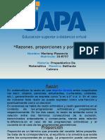 Razones, Proporciones y Porcentajes MARLENY PLASENCIA 16-8737
