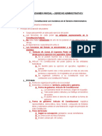 Guía – Primer Examen Parcial – Derecho Administrativo i