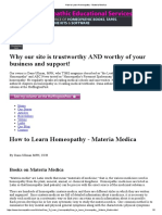 How to Learn Homeopathy - Materia Medica