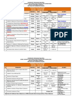 Work Schedule for Course Registration and Examination Research Semester II 20162017 Session
