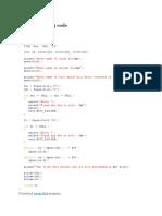 C Programming Code