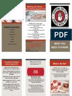 Influenza tri fold brochure
