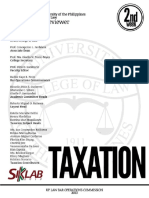 UP Bar Reviewer 2013 Taxation