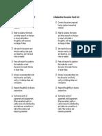 Collaborative Discussion Checklist