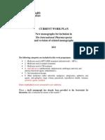 Work Plan Monographs 2011