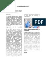 Inocuidad alimentaria HACCP