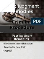Crim Pro Post Judgment Remedies