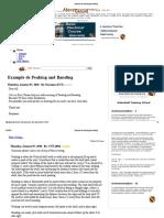 Example de Peaking and Banding