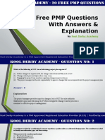 20 free pmp exam preparation questions with answers