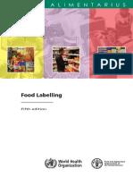 Codex FoodLabelling 2007 En