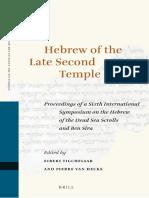 [Tigchelaar & Van Hecke] Hebrew of the Late Second Temple Period
