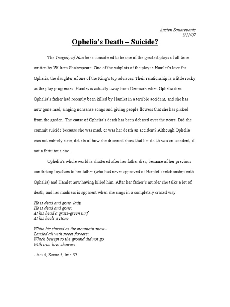 Hamlet theme of death essay