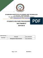 07 Students Welfare Procedures Manual