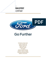 Ford Strategic Management