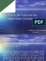 Políticas Publicas en Seguridad Ciudadana