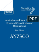 ANZSCO List of Occupations