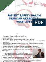 Patient Safety Dalam Standar Akreditasi Baru