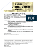 Yamaha VL Visual Editor Manual